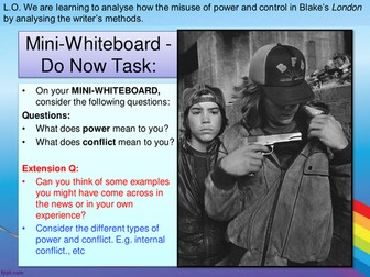 AQA ENGLISH LITERATURE - POWER AND CONFLICT - LONDON