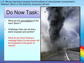 AQA GCSE Power and Conflict - Storm on the Island