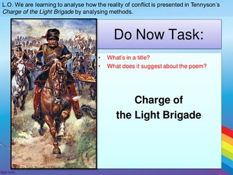 AQA Power and Conflict - Charge of the Light Brigade and Bayonet Charge