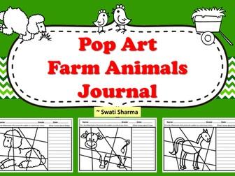 Pop Art Farm Animals Journal