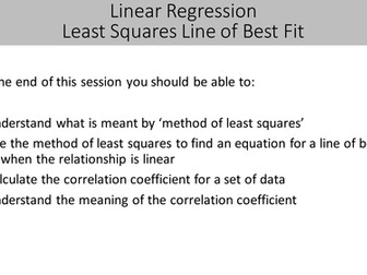 Least Squares Linear Regression and Correlation Coefficient