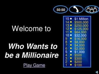Who wants to be a millionaire for Sociology