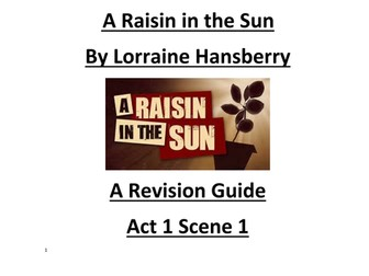 'A Raisin in the Sun' by Lorraine Hansberry Key Quotes on Characters in Act 1 Scene 1