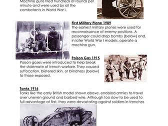 Technology of World War II WORKSHEET
