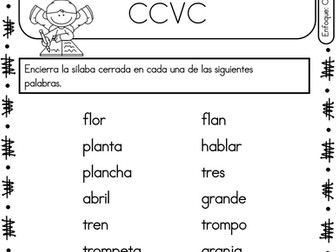 Spanish Phonics Book Set #17: Silabas cerradas