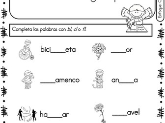 Spanish Phonics Book Set #18: Grupos consonanticos con l