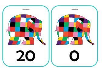 ELMER THE ELEPHANT NUMBER BONDS to 20    EYFS KS1 MATHS