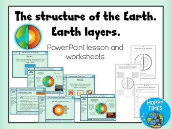 """Earth Layers and Structure Lesson / FREE WITH CODE """"FREERESOURCE"""""""