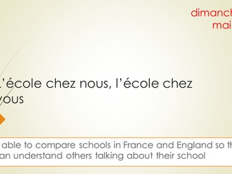 L'école chez nous, l'école chez vous french GCSE