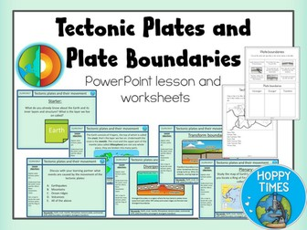 """Plate Tectonics and Plate Boundaries Lesson / FREE WITH CODE """"FREERESOURCE"""""""