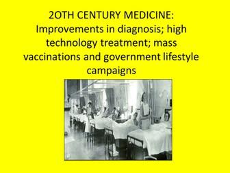 GCSE History Medicine in Britain L21 Improvements in diagnosis, high tech treatment