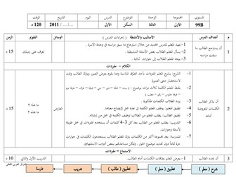 Arabic between your hands - Unit 3 preparation and lesson plan