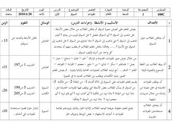 Arabic between your hands - Unit 9 lesson plan.