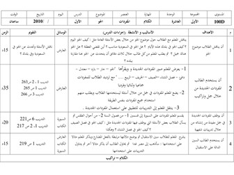 Arabic between your hands - Unit 10 preparation and lesson plan