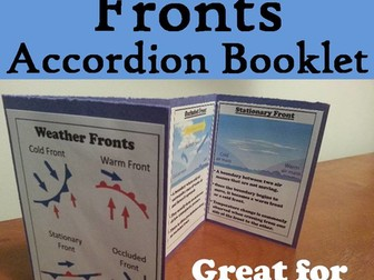 Weather Fronts Accordion Booklet