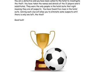 Football Themed Problem Solving Mystery
