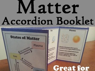 States of Matter Accordion Booklet