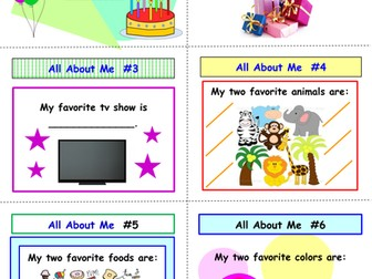 First Day/Week of School All About Me SCOOT Game (All Inclusive)