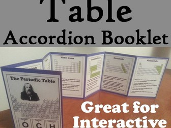 Periodic Table of Elements Accordion Booklet