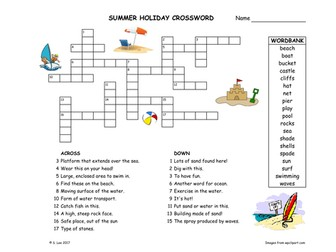 End Of Term Literacy Activity Summer Holiday Worksheets By Jamakex