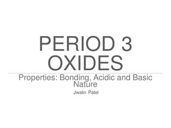 IB Chemistry: Period 3 Oxides