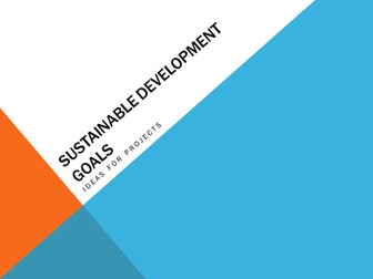 Ideas for projects on the SDGs