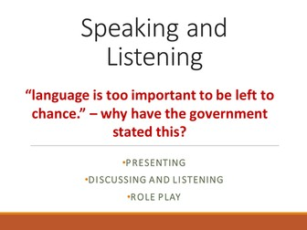 English Speaking and Listening activities
