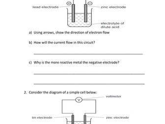 REVISION ON ELECTROCHEMICAL CELLS FOR YEAR 10 & 11 ...