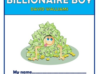 Billionaire Boy - KS2 Comprehension Activities Booklet!