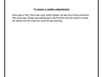Comprehension - Year 2/3
