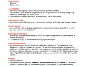 Psychology AS Level: Developmental Approach