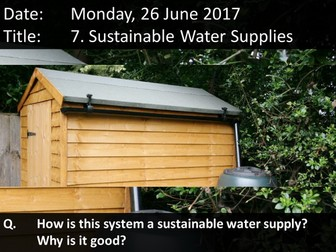 7. Sustainable Water Supplies