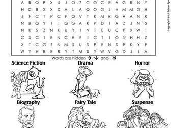 Types of Genres Word Search