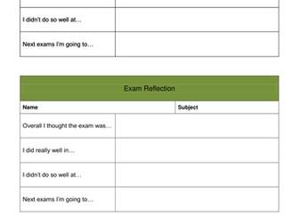 Assessment / Test / Exam Reflection Task