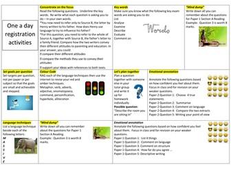 8700 English language quick revision activities