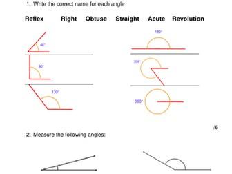 Math Quiz: Angles