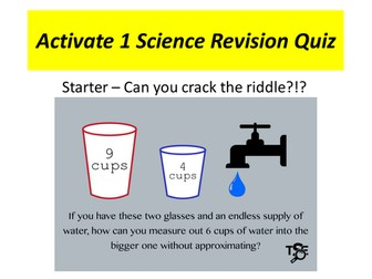 Activate 1 Science Revision Quiz