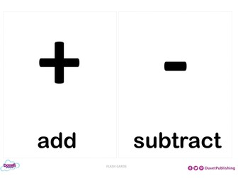 Maths Symbols Flashcards