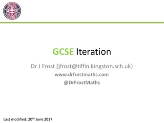 GCSE Iteration