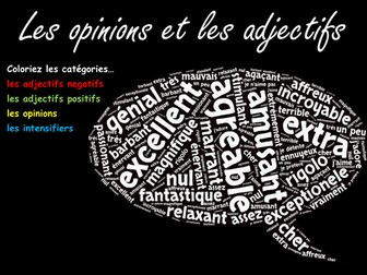 Revision Wordle - Opinions and Adjectives