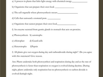 biology revision worksheets with answers for igcse by teachers choice12 teaching resources. Black Bedroom Furniture Sets. Home Design Ideas