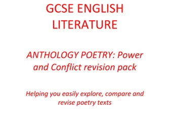 GCSE English Literature: Poetry Revision Pack - Power and Conflict