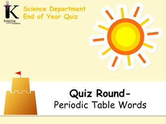 Science End of Year Quiz 2017