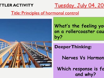 AQA new specification-Principles of hormonal control-B11.1