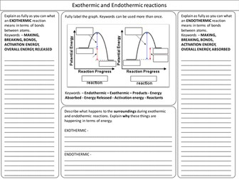 Endothermic and Exothermic Bond Energy Revision