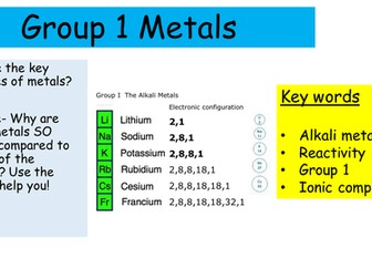 Group 1 & Transition metals