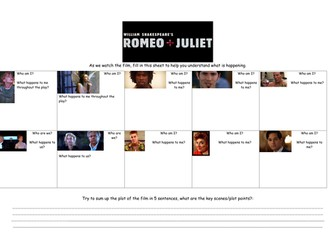 Romeo and Juliet guided film watching