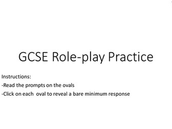 GCSE Role Play Practice (Foundation Level)