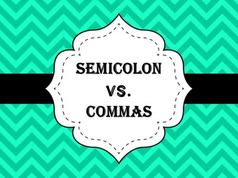 Semicolon vs. Commas