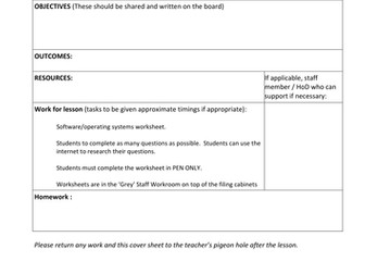 Lesson Planning Form COVER